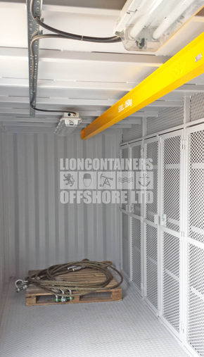 20ft DNV Offshore Container with Shelving and Electrics Case Study